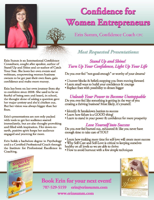 Speaking - Erin Summ Coaching